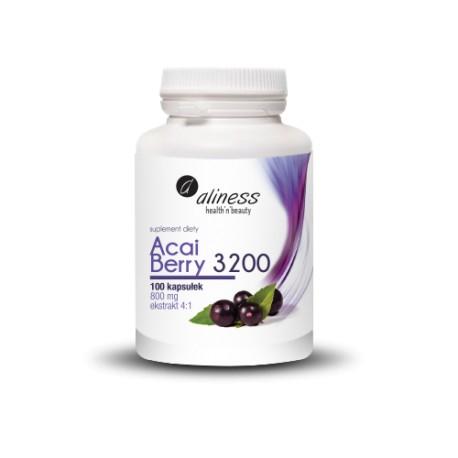 Acai Berry 3200 800 mg - 100 kapsułek. Aliness